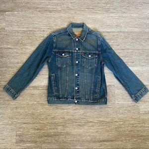 Levi's Blue Denim Distress Wash Jean Jacket